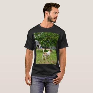 Fox Terriers Playtime, Mens Black T-shirt