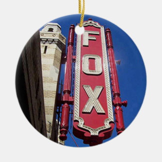 Fox Theatre, Atlanta,Georgia,Merry Christmas Y'all Ceramic Ornament
