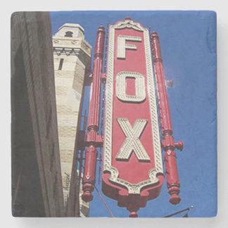 Fox Theatre Atlanta Landmark Marble Stone Coaster. Stone Coaster