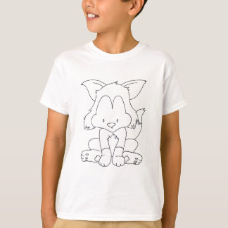 Fox to colourize - renard a colorier T-Shirt