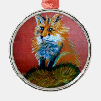 Fox Trot Metal Ornament