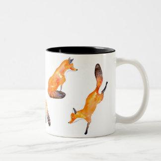 fox Two-Tone coffee mug