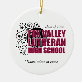 Fox Valley Lutheran High School Round Ceramic Decoration