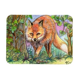 Fox Walking In The Woods Magnet