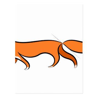 Fox Walking Postcard