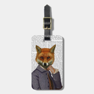 Fox With Flute 2 Luggage Tag