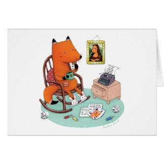 Fox Writes a Letter by Rosalinde Bonnet Card