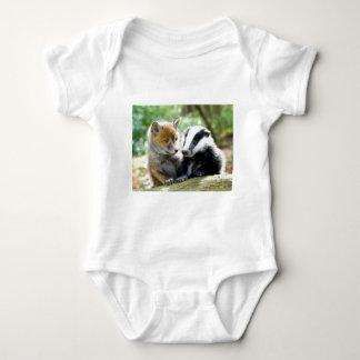 Foxcub & Badger Cute! Baby Bodysuit