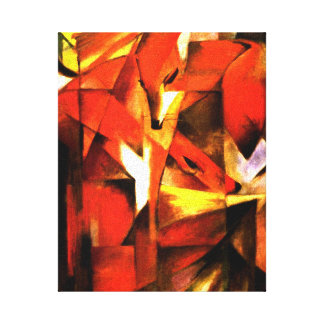 Foxes by Franz Marc Fine Art Canvas Canvas Print