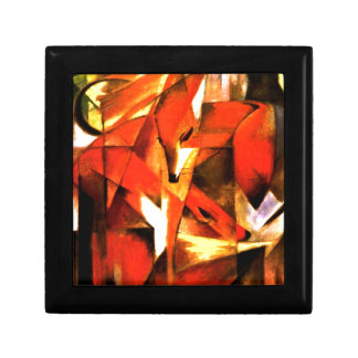Foxes by Franz Marc Fine Art Small Square Gift Box