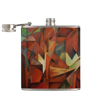 Foxes -  Homage to Franz Marc (1913) Flasks