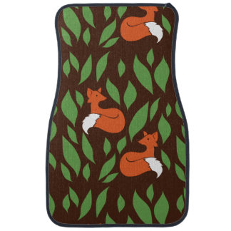 Foxes in the Woodland pattern Floor Mat