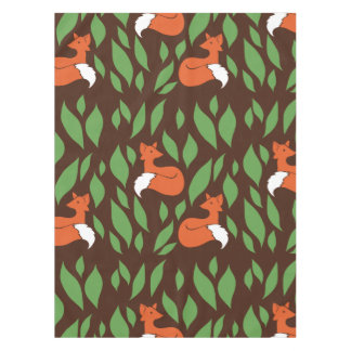 Foxes in the Woodland pattern Tablecloth