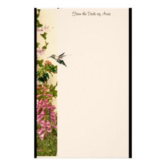 Foxglove Hummingbird Stationery