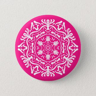Foxglove Mandala 6 Cm Round Badge