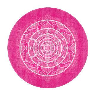 Foxglove Mandala Cutting Board