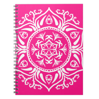 Foxglove Mandala Spiral Notebook