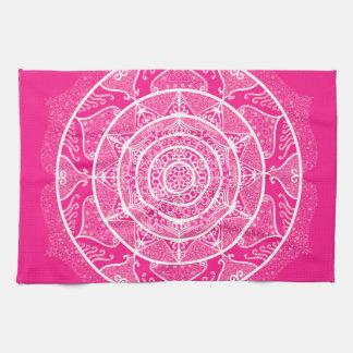 Foxglove Mandala Tea Towel