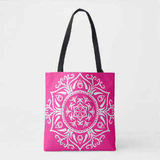 Foxglove Mandala Tote Bag