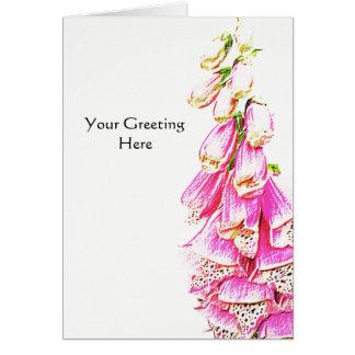 Foxglove Print Card