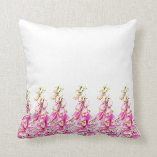 Foxglove Print Cushion