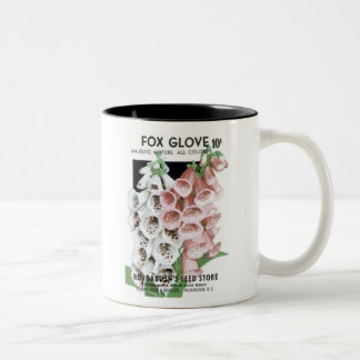 Foxglove, Roudabush's Seed Store Coffee Mugs
