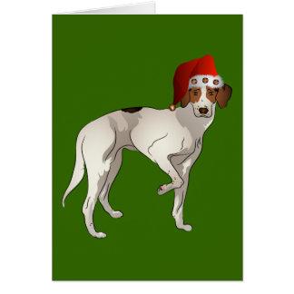 Foxhound Standing Christmas Card