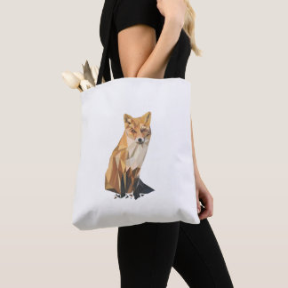 Fox's polygon Tote Bag