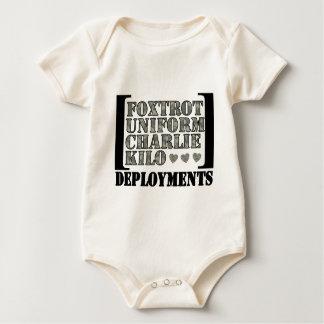 Foxtrot Deployments Baby Bodysuit