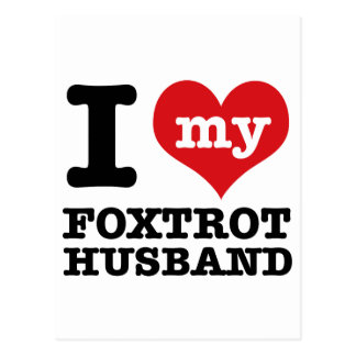 foxtrot husband postcard