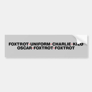 Foxtrot Off Bumper Sticker