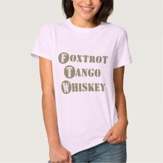 Foxtrot Tango Whiskey Tshirt