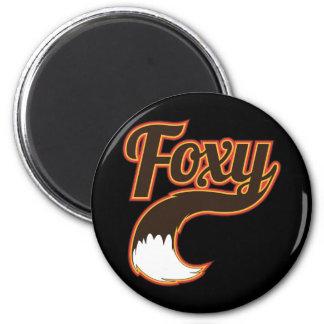 Foxy 6 Cm Round Magnet