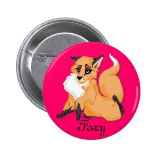 Foxy Pinback Buttons