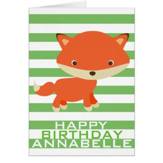 Foxy Birthday Card
