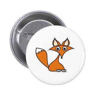 Foxy Cartoon Pinback Button