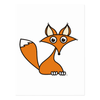 Foxy Cartoon Postcard