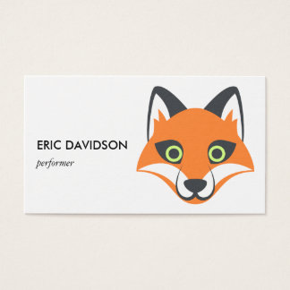 Foxy Emoji Cute Animal Business Card