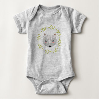 Foxy Faced Baby Jersey Bodysuit