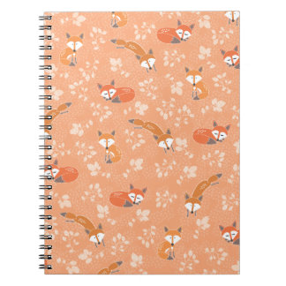 Foxy Floral Pattern Note Books