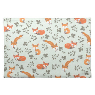 Foxy Floral Pattern Placemat