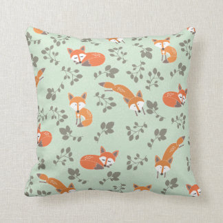 Foxy Floral Pillow Cushion