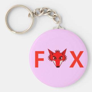 Foxy Fox Basic Round Button Key Ring