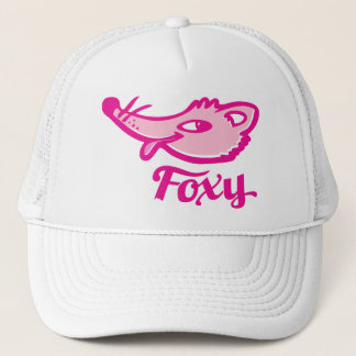 Foxy fox pink logo hat