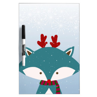 Foxy Get Trendy For Christmas Dry Erase Board