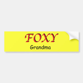 Foxy Grandma Sticker Bumper Sticker