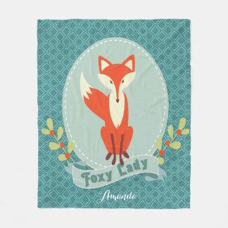 Foxy Lady Argyle Fleece Blanket