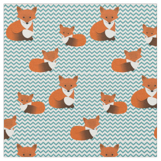 Foxy Little Foxes Fabric