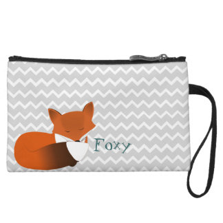 Foxy Little Red Fox Wristlet