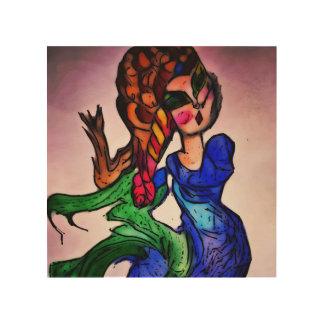 Foxy Mermaid Wood Prints